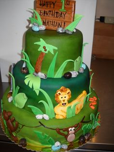 Tara's Piece of Cake: Safari Jungle Cake