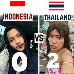 FT INA 0 VS 2 THA  Indonesia memang kalah garang..