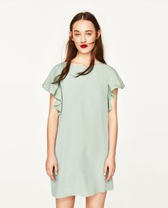 Image 2 of DRESS WITH FRILL AT THE BACK from Zara