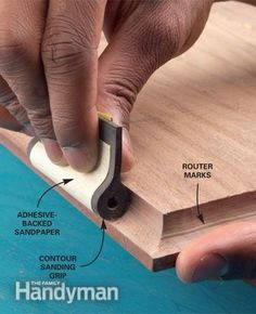 Great tips for sanding woodwork by hand