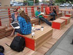 ideas urban landscape design street furniture outdoor seating for 2019 Urban Furniture, Street Furniture, Furniture Online, Urban Landscape, Landscape Design, Deck Design, Ideas Terraza, Green Design, Vancouver