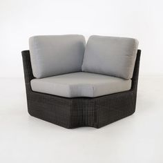 Brooklyn Outdoor Wicker Sectional Corner Chair (Charcoal)