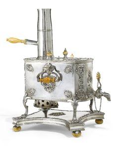 A Rare Russian Silver Samovar, Moscow 1770.