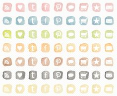 Free Watercolor Social Networking Icons