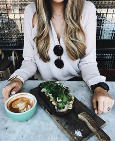 Shop Your Screenshots™ with LIKEtoKNOW.it, a shopping discovery app that allows you to instantly shop your favorite influencer pics across social media and the mobile web. Teacher Diva, Out To Lunch, Coffee Health Benefits, Surplice Top, Food Goals, Pretty Outfits, Girly Things, Love Food, Food Porn