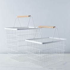 Steel & Wood Laundry Basket on Food52