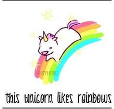 This unicorn likes rainbows