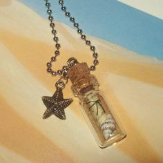 Message in a bottle necklace! How cute is that!!