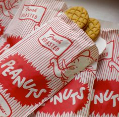 "Filled Peanut Sacks with Nutter Butter Cookie ""Peanuts"" for our Dumbo Circus Train Party"