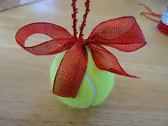 As the World Purrs: Tennis Ball Christmas Ornaments for Dog Themed Christmas Tree