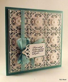 John Next Door 9 adorning squares foam mounter on card- SB
