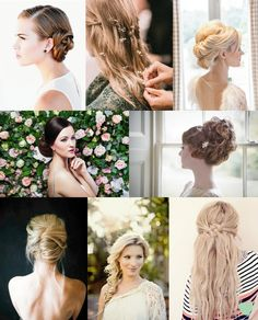 Bridal Hairstyle Ideas for 2015 Mood Board from The Wedding Community