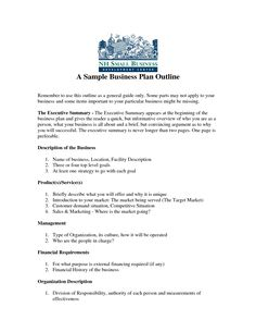 Format of business plan pdf