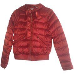 Giubbotto rosso con cappuccio piuma d'oca TG s xxxl bimba