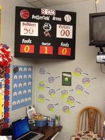 A classroom score board! I wonder if you could make this work for as a classroom behavior chart! {butters first grade}