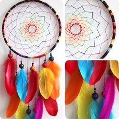 Aurora Borealis Native Woven Dreamcatcher by eenk on Etsy, $49.00