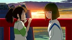 STUDIO GHIBLI GIFS ~ Spirited Away, Chihiro and Haku