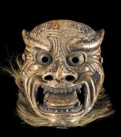 This mask probably was used in a ritual exorcism performed the night before the New Year to drive out demons. new year's eve new year 2015 japanese art mask freersackler smithsonian Japanese Noh Mask, Edo Period Japan, Art Beauté, Sculptures, Lion Sculpture, Turning Japanese, Art Japonais, Japanese Prints, Old Antiques