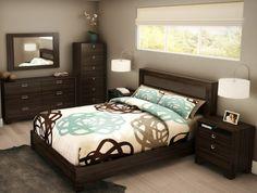 Braunes schlafzimmer ~ Wandfarbe schlafzimmer braun beige gehäckelte tagesdecke