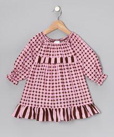 Look at this #zulilyfind! Pink Polka Dot Pattycake Dress - Toddler & Girls #zulilyfinds