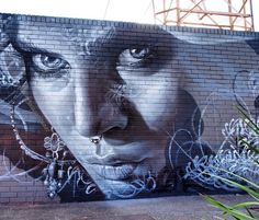 Adnate portrait, background by Mayo + Askew in Melbourne Best Street Art, Amazing Street Art, 3d Street Art, Street Art Graffiti, Street Artists, Amazing Art, Graffiti Wall Art, Mural Art, Internet Art