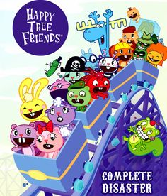 Photo of HTF new official cover for fans of Happy Tree Friends. giggles, toothy, lammy and mr. pickles, cuddles, flippy, the mole, flaky, nutty, russell, mime, sniffles, lumpy, handy, disco bear, lifty and shifty, pop and cub, cro-marmot, truffles