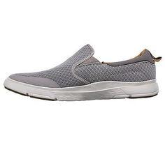 Skechers Men's Moogen Sender Memory Foam Slip On Shoes (Taupe)