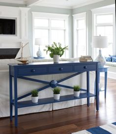 Nautical Beach Home Interiors: Navy Blue - Sally Lee by the Sea