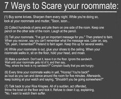 Great Pranks to Scare Your Roommate