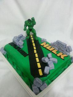 hulk number 4 cake by Dizzylicious CakesDecorcom cake