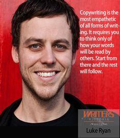 Luke Ryan at Writers Victoria https://writersvictoria.org.au