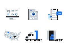 Fleet Management Icons pack by Milos | Dribbble