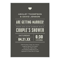 Wedding Couples Shower Big Type Invitations