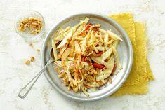 De milde en kruidige smaak van knolselderij doet het heel goed samen met het zoete van de appel - Recept - Allerhande