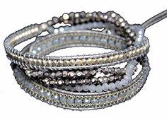 Silver 3X Wrap Bracelet with Light and Dark Gray Sparkling Stones, Twisted Bead Strands 21 Nakamol http://www.amazon.com/dp/B013XBVXLM/ref=cm_sw_r_pi_dp_9k-jwb0YG1YF5