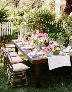 Green & pink table