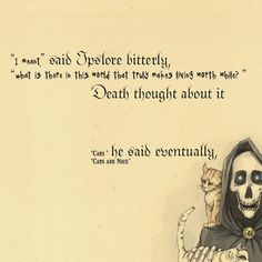 cool  Death thought about it - incredible sayings