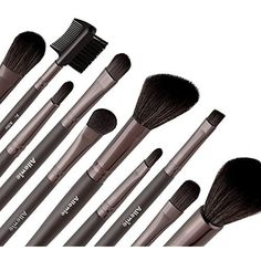 Allewie Makeup Brushes Set 10pcs Nylon Bristles Wooden Handle 1 Free Black Bag Professional Cosmetic Brushes for Eyeshadow , Foundation , Lip , Concealer , Powder and Other Makeup -- Want to know more, click on the image. (This is an affiliate link and I receive a commission for the sales)