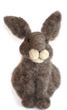 Do it yourself needle felting kit for beginners. It is fun and easy to make this needle felted sheep. This kit comes with detailed instructions and everything needed to complete the project. Needle Felting Kits, Needle Felted Animals, Wet Felting, Felt Animals, Cute Easter Bunny, Felt Bunny, Bunny Rabbit, Happy Easter, Cutest Bunny Ever