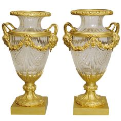 1stdibs | A Good Pair of Antique Mantle Urns In the Louis XVIth Manner