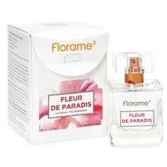 Le parfum Fleur de Paradis Florame réunit charme et légèreté au cœur d'un bouquet gourmand.