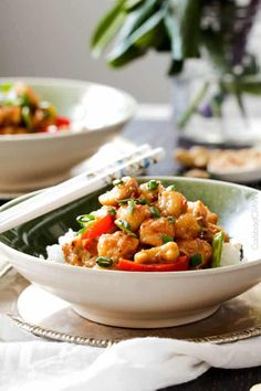 Skinny Honey Coconut Cashew Chicken Stir Fry - in your mouth in 35 minutes with most incredible coconut infused sweet and tangy sauce.