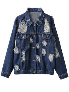 Best fashion just in, Shirt Collar Dist... is available now, click the link http://modatendone.co.uk/products/shirt-collar-distressed-denim-jacket-purplish-blue?utm_campaign=social_autopilot&utm_source=pin&utm_medium=pin don't miss out our amazing collections!