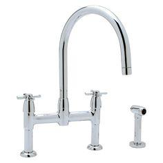 Rohl Perrin & Rowe U.4272X-2 Double Handle Kitchen Faucet - U.4272X-APC-2
