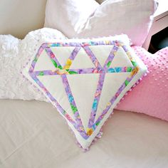 Nursery pillow decorative pillow diamond by LoveColorsByJulianna Sitting Pillows, Throw Pillows, Decorative Objects, Decorative Pillows, Baby Shower Gifts, Baby Gifts, Meditation Pillow, Patchwork Cushion