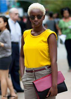 Afro Hairstyles + Essential Hair Care Tips Twa Hairstyles, Natural Afro Hairstyles, Summer Hairstyles, Twa Haircuts, Black Hairstyles, Zooey Deschanel, Blonder Afro, Blonde Twa, Short Blonde
