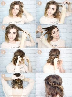 Go for this half-up braid. | 30 No-Heat Hairstyle Ideas To Get You Through Summer