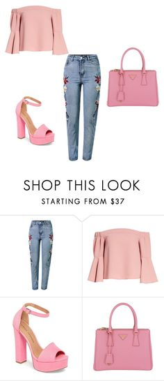 Outfit for summer by martina-pavic-1 on Polyvore featuring Topshop, WithChic, Chinese Laundry and Prada