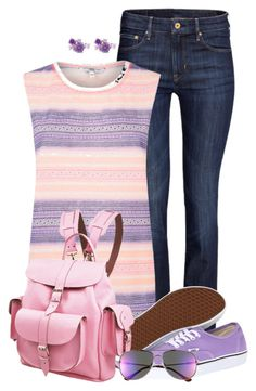 """""""purple vans"""" by kswirsding ❤ liked on Polyvore featuring H&M, Vans, Grafea and Le Specs"""