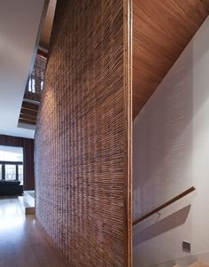 Woven partition to staircase - John Wardle Architects